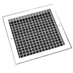 Double Deflection Grille - White - 400X400mm