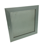350X350 Silver Egg Crate Grille With Damper