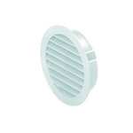 Domus Easipipe Rigid Duct 100mm Outlet Louvered Soffit Vent With Flyscreen White