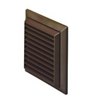 Domus Easipipe Rigid Duct 100mm Outlet Louvered Grille With Flyscreen Brown