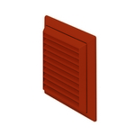 Domus Easipipe Rigid Duct 100mm Outlet Louvered Grille With Flyscreen Terracotta