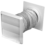 150MM 1 METRE FLEXIBLE COOKER HOOD DUCTING KIT