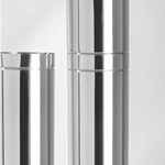 152 Dia X 1000 Sw Flue Pipe Stainless Steel SWFP1521000