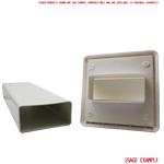 Kair 110X54mm Gravity Grill  Rectangular Spigot