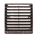 GREENWOOD EXTERNAL GRILLE FOR AX100 FANS/100MM DUCT - BROWN