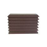 GREENWOOD LOW RISE EXTERNAL BAFFLE FOR USE WITH 100MM FANS - BROWN