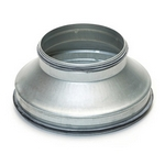 Metal Ducting Pressed Reducer with Rubber Seal - 150mm to 100mm