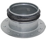 Galvanised Safe End Cap - Fits Into Duct - 63mm