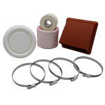 KAIR FLEXIBLE 125MM IN LINE FAN DUCTING KIT WITH TERRACOTTA COWLED OUTLET