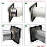 Kair 150mm Wall Outlet - Gravity Grille Stainless Steel Ducting Vent