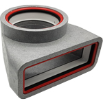 Kair Self-Seal Thermal 204X60mm To 125mm Dia Plenum Complete With Female Click And Lo...