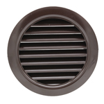 Manrose 41020B 100mm Round Louvred Grille - Brown
