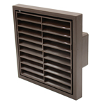 Manrose 41050B - Rectangular 110mm x 54mm Brown Louvred Grille