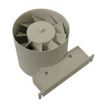 Manrose ID120T Fan - Inline Electric Time & Bracket - 120mm