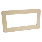 MEGADUCT 220 FLAT CHANNEL WALL PLATE