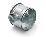 Metal Ducting Single Blade Damper with Metal Cup with Rubber Seal - 100mm