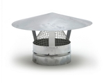 Metal Ducting Ventilation Hood with Mesh - 150mm