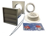 MANROSE 41703 - Tumble Dryer Venting Kit With Grey Gravity Grille