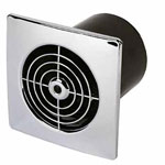 Manrose LP100STC Low Profile Extract Fan Chrome Cover
