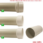 Kair Ducting Reducer 150mm to 125mm - 6 to 5 inch Duct Pipe Reduction Connector