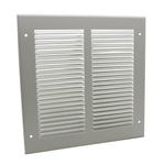 PRESSED STEEL GRILLE - 33G - WHITE - 200X200MM