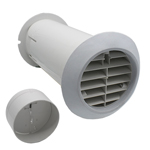 QUICK FIT DELUXE WALL KIT WITH SHUTTER - WHITE - FITS ALL 100MM EXTRACTOR FANS