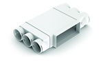 Domus Adapt 220X90mm T Piece With 3X75mm Radial Sockets From Side