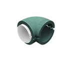 Domus Radial 125mm 90 Rigid Duct Bend And Thermal Insulation Silver