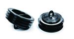 Domus Radial Semi-Rigid Duct Protective Caps Black