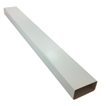 110MM X 54MM (4x2) RECTANGULAR FLAT DUCTING 1 METRE - WHITE PLASTIC
