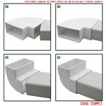 Kair Rectangular Flat Ducting 110mm x 54mm - 2 Metre Length Flat Channel Pipe