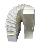 SYSTEM 125 RECTANGULAR 150MM X 70MM - FLEXIBLE BEND