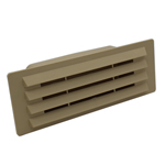 Rectangular Ducting 150mm X 70mm - Airbrick With Damper Flap - Beige