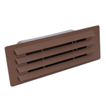 Rectangular Ducting 150mm X 70mm - Airbrick With Damper Flap - Brown