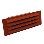 RECTANGULAR DUCTING 150MM X 70MM - AIRBRICK WITH DAMPER FLAP - TERRACOTTA