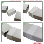 Kair Rectangular Straight Connector 180mm x 90mm Flat Pipe Joint