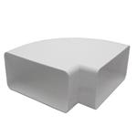 Rectangular Ducting 180mm X 90mm  - Horizontal Bend 90 Degree