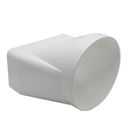 Kair Offset Ducting Adaptor 180mm x 90mm to 150mm - 6 inch Rectangular to Round
