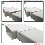 Kair 90 Degree Horizontal Elbow Bend 150mm x 70mm - 6 x 3 inch