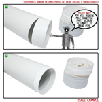 Kair Threaded Hose Connector 100mm - 4 inch (Female Spigot) Joins Flexible Hose to Round Ducting Fittings