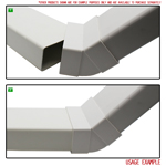 Kair 45 Degree Vertical Elbow Bend 110mm x 54mm - 4 x 2 inch