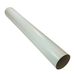 Kair Plastic Ducting Pipe 125mm - 5 inch / 1 Metre Long Length - Rigid Straight Duct Channel