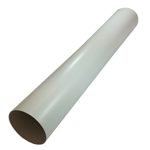 Kair Pack of 5 x 150mm - 6 inch / 2 Metre Plastic Ducting Pipe Long Lengths - Rigid Straight Duct Channel
