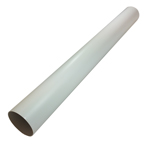 CLEARANCE - Single Kair Plastic Ducting Pipe 100mm - 4 inch / 2 Metre Long Length - Rigid Straight Duct Channel