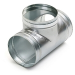 Metal Ducting 90 Degree Unequal T-Piece - 150mm with 100mm Spigot