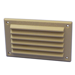 RYTONS 6X3 LOUVRE VENTILATION GRILLE WITH FLYSCREEN BUFF SAND