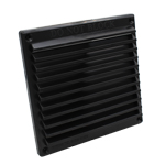 RYTONS 6X6 LOUVRE VENTILATION GRILLE WITH FLYSCREEN - BLACK