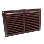 Rytons 9X6 Louvre Ventilation Grille - Brown