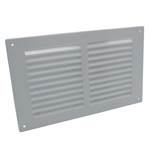 Louvre Vent Flush Fitting 9X6 White Plastic by Rytons