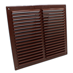 Rytons 9X9 Louvre Ventilation Grille - Brown